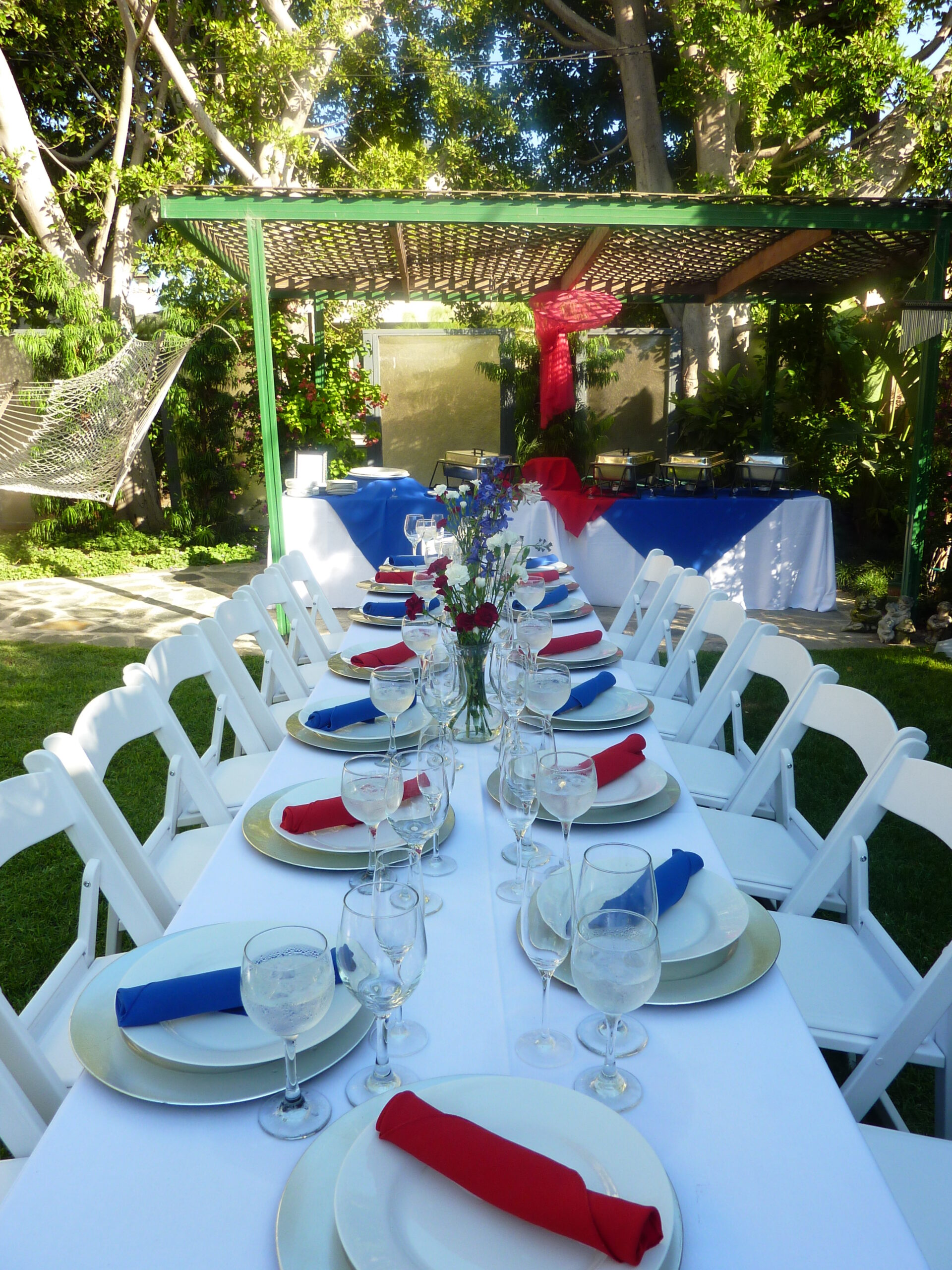 July Catered Table Setting