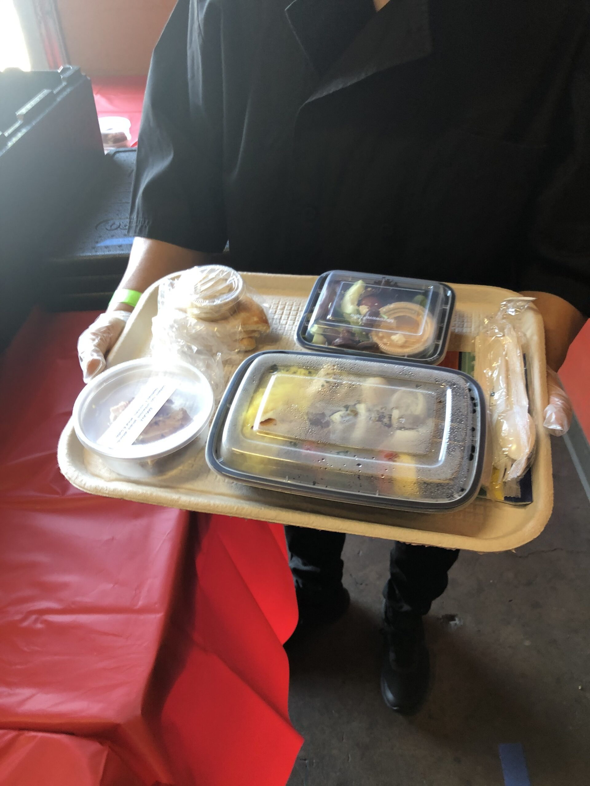 COVID friendly production food tray